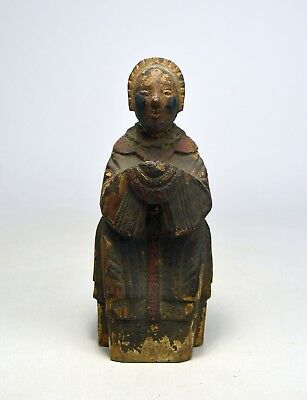 A Very Old Chinese Buddha with Offering Bowl , Buddhist Art