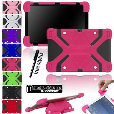 """Shockproof Silicone Stand Cover Case For Various Bq 10"""" Tablet + stylus"""