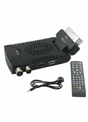 Decoder Digitale Terrestre Ricevitore Dvb-T2 Full Hd Scart Usb E Hdmi Mpeg4 Jpeg