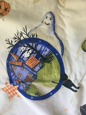 """Halloween Tablecloth Handmade Cloth Vintage Excellent 78""""x 58"""" WOW"""