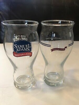 "Pair of 2 Samuel Adams 16oz Glasses ""For the Love of BEER"""