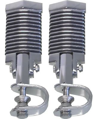 Footrests Clamp-On Flat Diamond Style for Highway bars