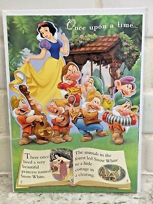 Walt Disney Snow White Storybook All Occasion Greeting Card - New
