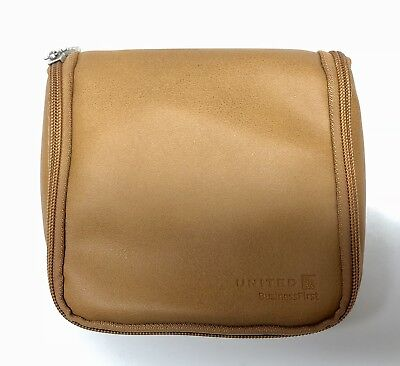 United Airlines Toiletries Bag - UA Business First Class Logo Amenity Kit Case