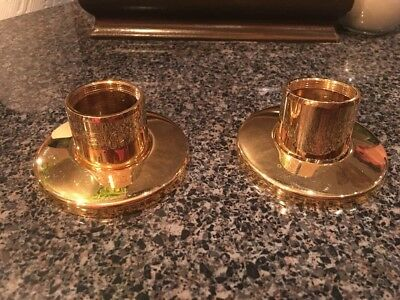 American Standard Gold Plated 0684 Escutheons And Barrels For Faucet NOS