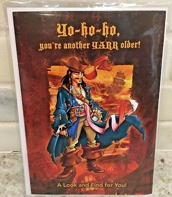Walt Disney Pirates Of The Caribbean Birthday Greeting Card - New