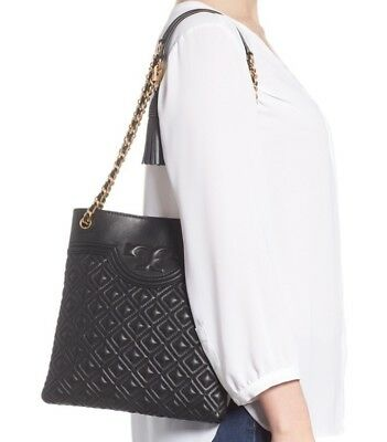 89b0c9a8e540 TORY BURCH - Fleming Quilted Leather Swingpack Shoulder Cross Body ...