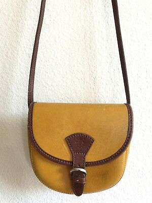 2b03a5d240 Italian Crossbody Bag Purse Genuine Leather Florence Logo - Made In Italy