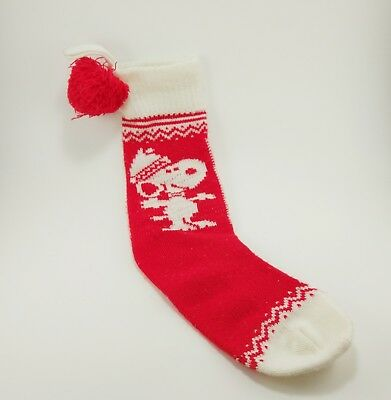 vintage peanuts snoopy red white knit christmas stocking - White Knit Christmas Stockings