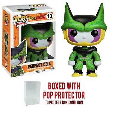 Funko Pop Dragonball Z Perfect Cell Vinyl Figure #13 with protector case