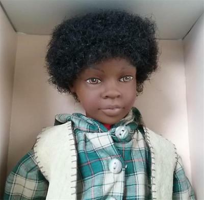 "1997 Heidi Ott Little Ones Black Doll NRFB 12"" Boy Named Charlie # M63 / BH8830"