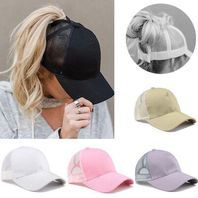 Ponytail Baseball Cap Women Messy Bun Baseball Hat Snapback Sun Sport Caps New