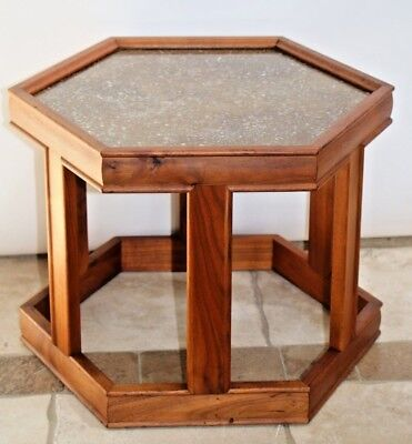 Vintage John Keal for Brown Saltman California Hexagon Table Mid Century Modern