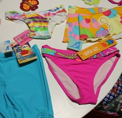 New Cupid Girls Swimwear Bikini Swim Bottoms Pant 3,4 Spf 50