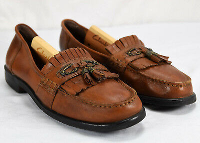 8f9ef63a53b Earth Spirit Women s Tassel Loafers Sz 9 Brown Leather Slip On