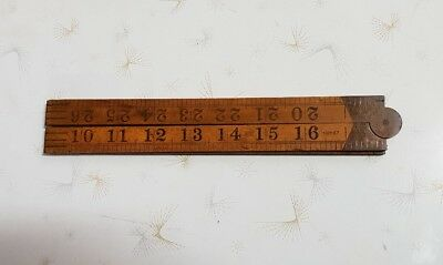 RABONE No:1167 Vintage English Boxwood RULER 36in 3ft Old Hand Tools