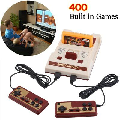 Classic Retro Game Console Built in 400 Games 2 Controllers Video Play Fast Ship