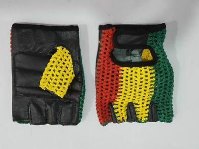 Vintage Style World  Track Mitts Crochet Cycling Gloves Mits L/'Eroica
