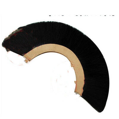 BLACK PLUME CREST BRUSH Synthetic Polyester Hair For ROMAN CENTURION HELMET