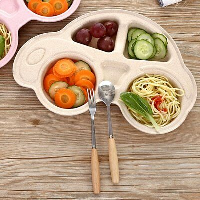 Cartoon Baby Kids Dinner Plated Tray Snack Fruit Lunch Plate Tableware NI