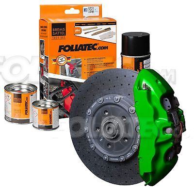Painting Brake Caliper High Temperature 300 °C Foliatec Ft2166 Green Green