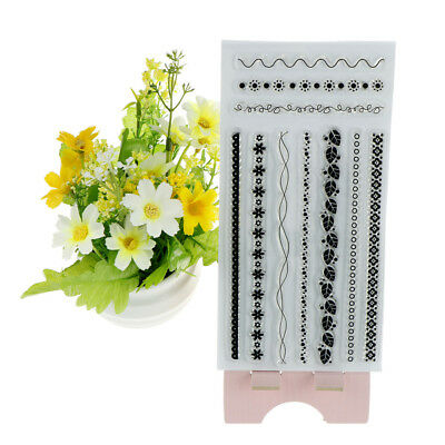 fine decorative border scrapbook diy photo albums cards silicone clear stamp WH
