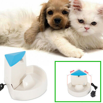Pet Cat Dog Water Drinking Spout Waterfall Bowl -Drink Pet Fountain Corner Fit