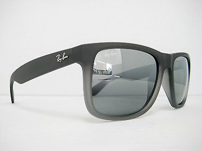 0ed640ca3b new authentic Ray Ban Sunglasses RB4165 852 88 Rubber Grey   Grey Mirror  55mm