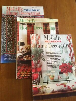 Vintage 1967, 1968, 1969 McCall's You-Do-It Home Decorating (Lot Of 3)