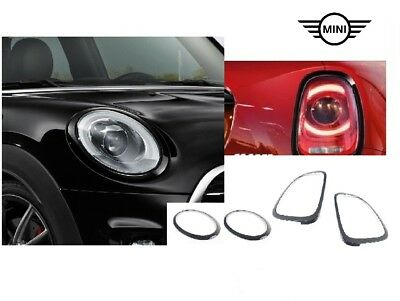 Original MINI JCW Black-Line Zierringe schwarz 2285495+2285496+7449209+7449210
