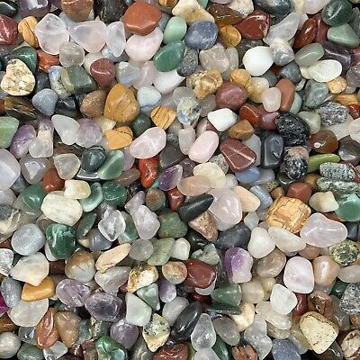 Tumble Stone Crystal Mix from South America - 1 pound lot of Large Size Crystals