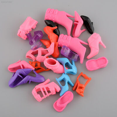 4F4D Mix 24pcs/12Pairs Shoes Boots for Barbie Doll Toy Girls Play House Party