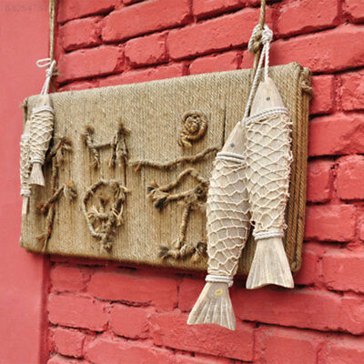569E 2pcs Style Wooden Hanging Fish Decor Village Decorated Animal Wall Decorati