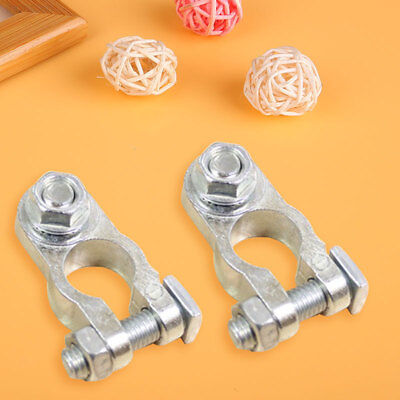 7F7D HoT 2 Pcs 1.2cm Car Battery Terminal Connector Clamp Clips Negative Positiv