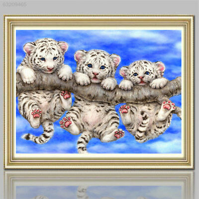6D2E 5D DIY Tigers Diamond Painting Embroidery Cross Stitch Kits Mosaic Decor