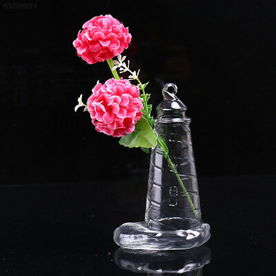9908 Clear Tower Shape Glass Hanging Vase Terrarium Hydroponic Plant DIY Table D
