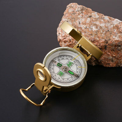1613 Army Yellow Compass With Ruler Magnifying For Mountaineering Camping Outdoo