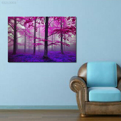 A7CB Modern Art Purple Woods Oil Paintings Pictures For Living Room Decoration