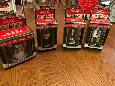 Coca Cola Town Square Collection Group of Figurines from 1992