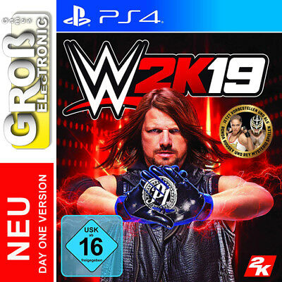 WWE 2k19 Day One Edition PS4 Playstation 4 USK Version NEU OVP LIEFERBAR