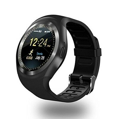fb97006f31311 Montre Connectée Homme Femme Bluetooth Smartwatch Fitness Android Sim+SD Y1