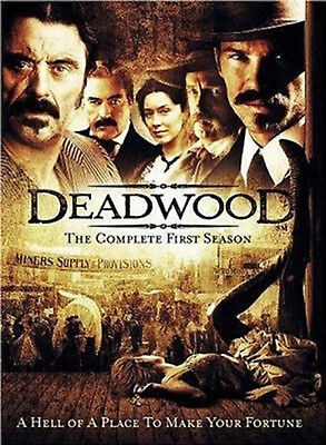 DEADWOOD COMPLETE SERIES 1 DVD First Season Timothy Olyphant Ian McShane New R2