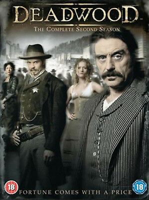 DEADWOOD COMPLETE SERIES 2 DVD Second Season Timothy Olyphant Ian McShane New R2