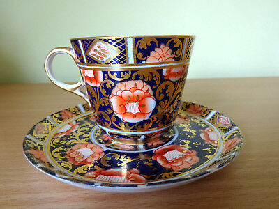 19c SPODE IMARI PATTERN COFFEE CUP AND SAUCER c1883