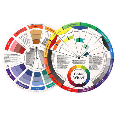 Artists Colour Wheel Mixing Guide for Paint/Pastel/Pencil/Interior Design Pocket