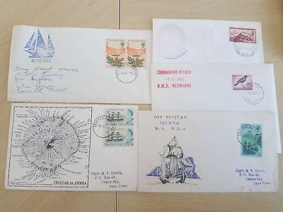 Tristan Da Cunha interesting early cover lot includes some signed