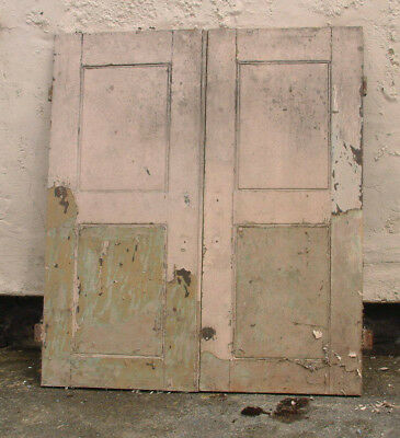 PAIR of Antique  Pine Cupboard Doors..41ins tall 36 inches wide . 1. 1/4 thick