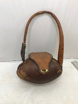 b7cd1a31614d VTG 50 S HAND Tooled Taxidermy Armadillo Purse Shoulder Bag ...