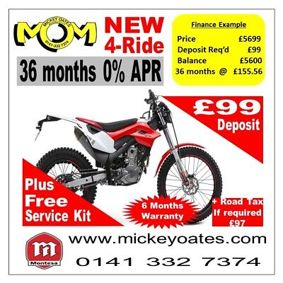 New Montesa 4-Ride, In Stock + up to 36 Months 0% APR Finance
