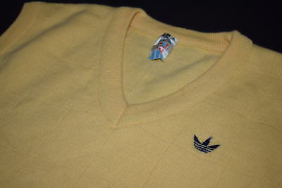 Adidas Pullunder Pullover Sweater Tennis 80s 80er Vintage West Germany Wolle 54